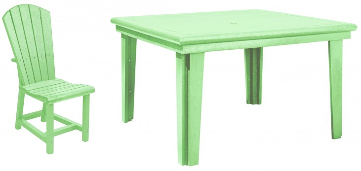 "Generations Lime Green 46"" Square Dining Room Set"