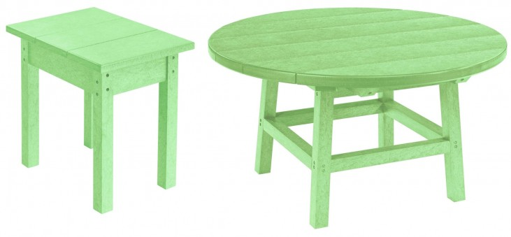 """Generations Lime Green 37"""" Round Occasional Table Set"""