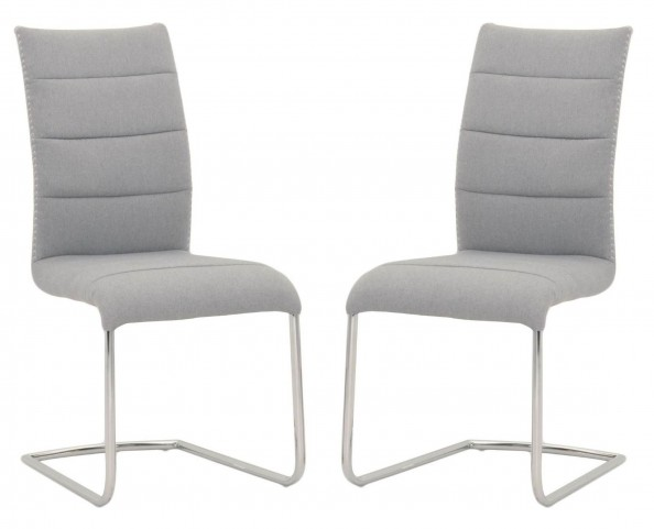 Regis Lido Ash Grey Dining Chair Set of 2