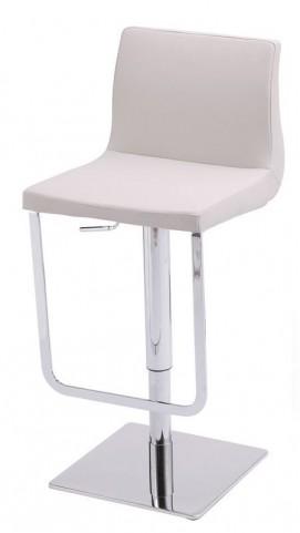 Lift White Hydraulic Barstool