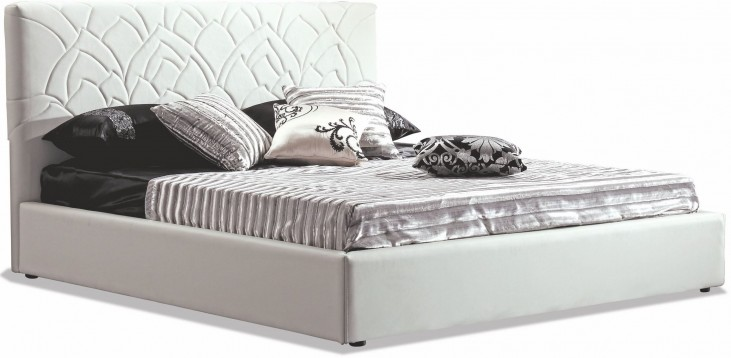 Lily White King Platform Bed