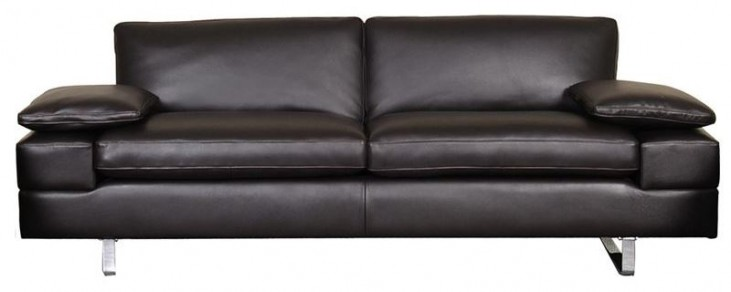 Lindo Black Leather Sofa