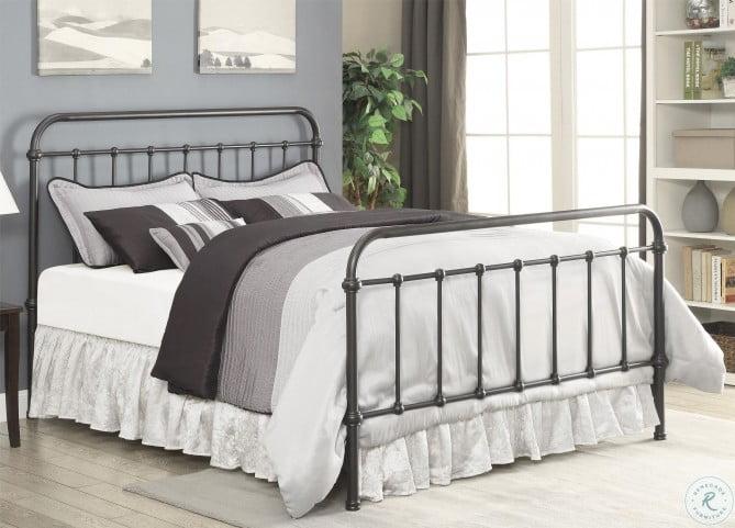 Livingston Dark Bronze Full Metal Bed