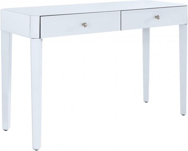 Excellent Reverse Painted White Glass Desk Machost Co Dining Chair Design Ideas Machostcouk