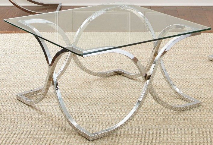 Leonardo Glass Top Cocktail Table