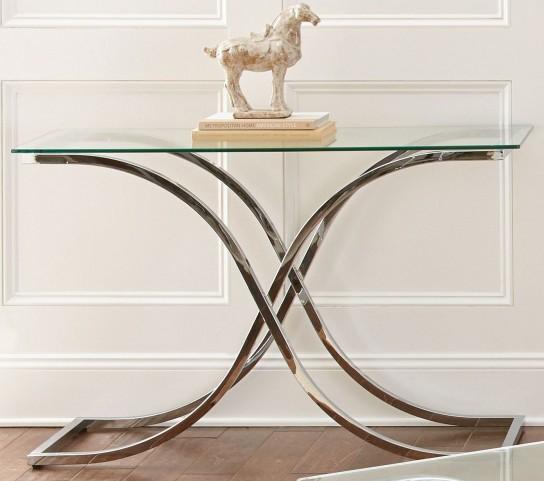 Leonardo Glass Top Sofa Table