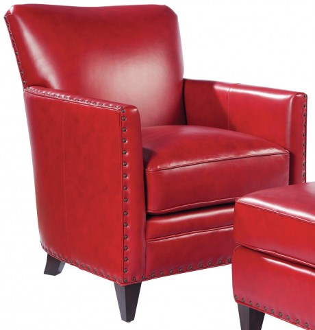 Logan Crestview Red Leather Chair