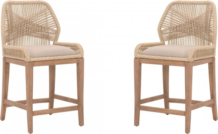 Loom Sand Counter Stool Set Of 2 From Orient Express