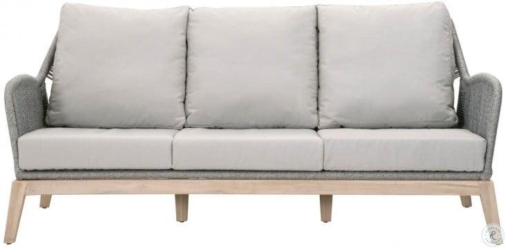 Sensational Wicker Smoke Gray Loom Outdoor 79 Sofa Creativecarmelina Interior Chair Design Creativecarmelinacom