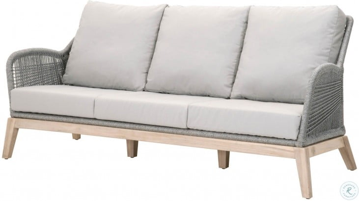 Terrific Wicker Smoke Gray Loom Outdoor 79 Sofa Creativecarmelina Interior Chair Design Creativecarmelinacom