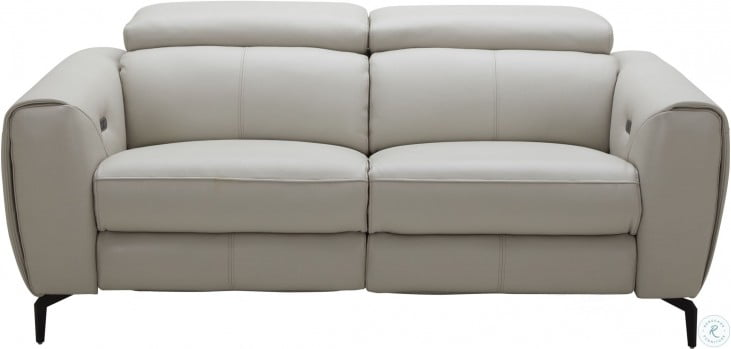 Awesome Lorenzo Light Grey Leather Reclining Loveseat Machost Co Dining Chair Design Ideas Machostcouk