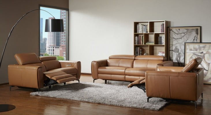 Lorenzo Caramel Leather Living Room Set From Jnm Coleman