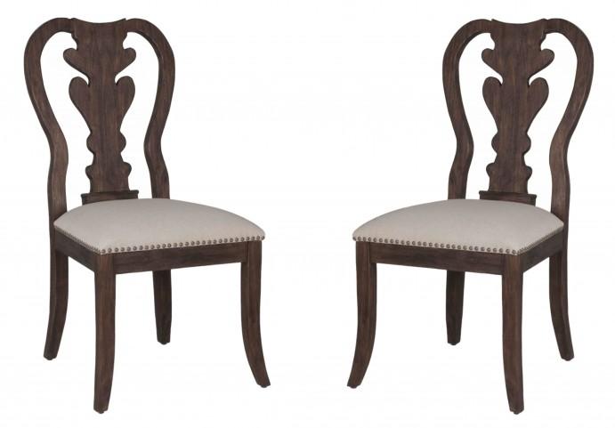 Lotus Rustic Java Dining Chair Set of 2