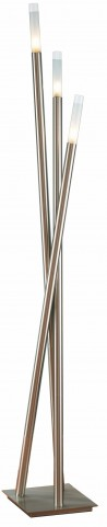 Icicle Brushed Nickel Floor Lamp