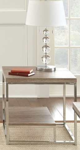 Lucia Brown End Table