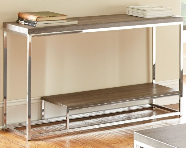 Lucia Gray and Brown Sofa Table