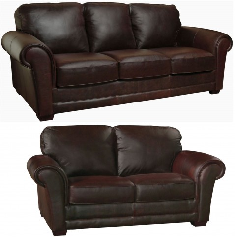 Mark Italian Leather Living Room Set from Luke Leather | Coleman ...