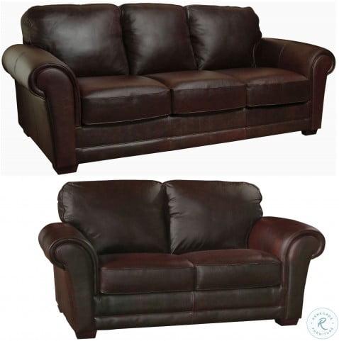Mark Italian Leather Living Room Set