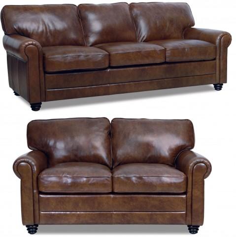 Andrew Italian Leather Living Room Set