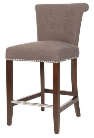 Luxe Espresso Sepia Fabric Counter stool