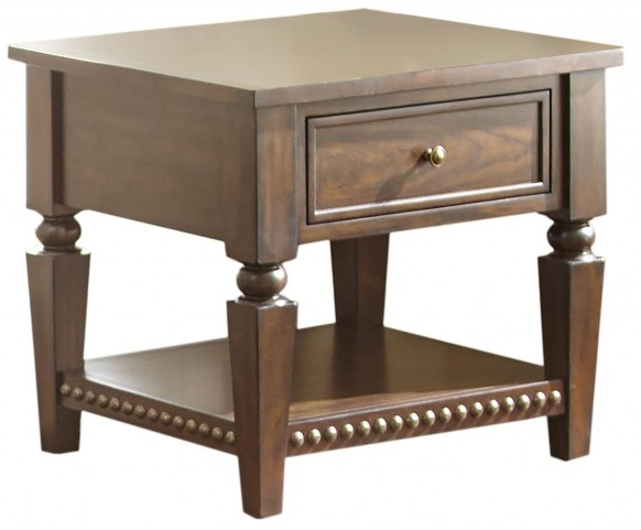 Livonia Brown Cherry End Table