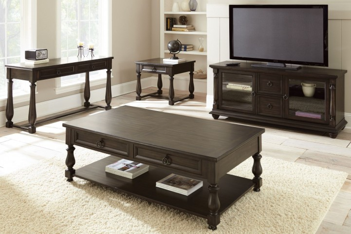 Leona Charcoal Occasional Table Set