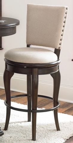 Leona Deep Charcoal Swivel Bar Chair Set of 2