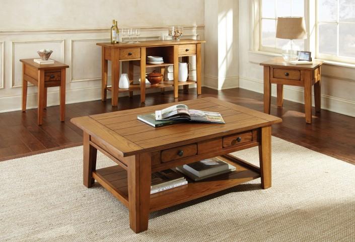Liberty Golden Oak Occasional Table Set