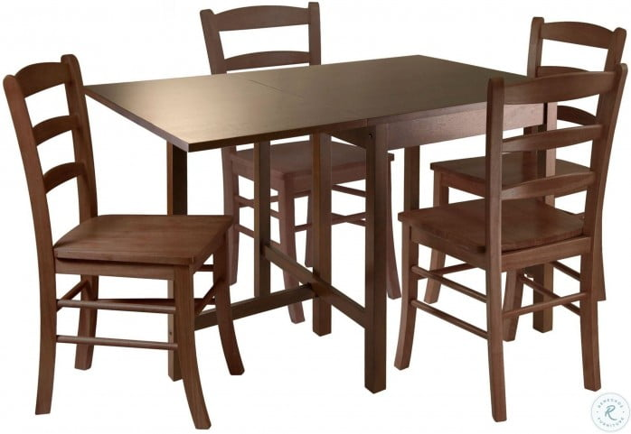Lynden Walnut Drop Leaf Dining Room Set