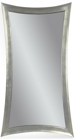 Hour-Glass Shaped Silver Leaf Leaner Mirror