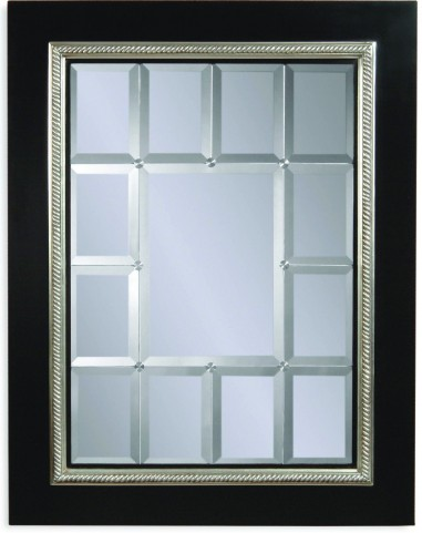 Fiona Black and Silver Wall Mirror
