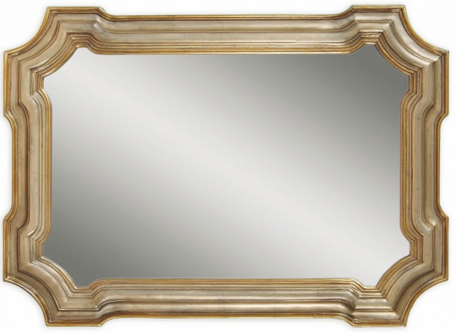 Gold Metal Wall Mirror: Angelica Silver And Gold Wall Mirror, M2804EC, Bassett Mirror
