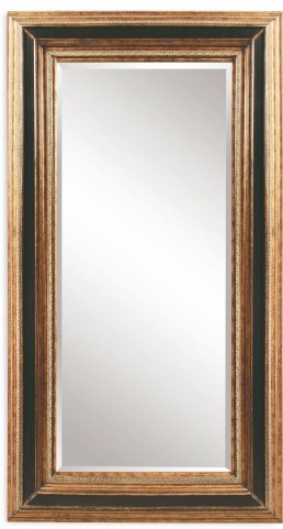 Vallejo Antique Gold and Black Leaner Mirror