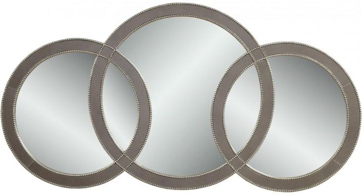Olympiad Silver Leaf Wall Mirror