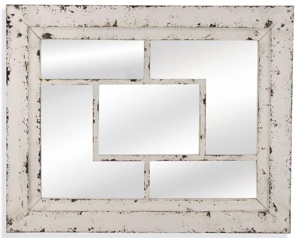 Harper Rustic White Wall Mirror