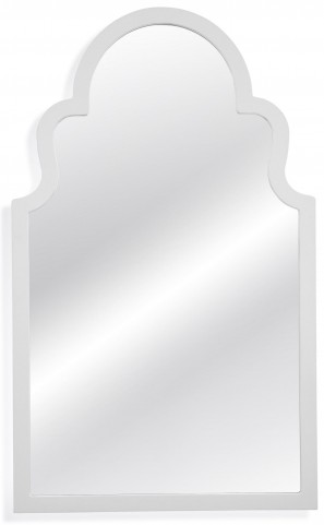 Myrna White Lacquer Wall Mirror