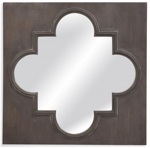 Boden Distressed Grey Wall Mirror
