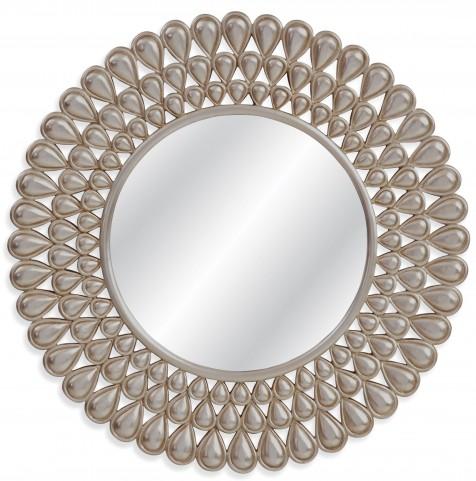 Kaley Antiqued Silver Leaf Wall Mirror