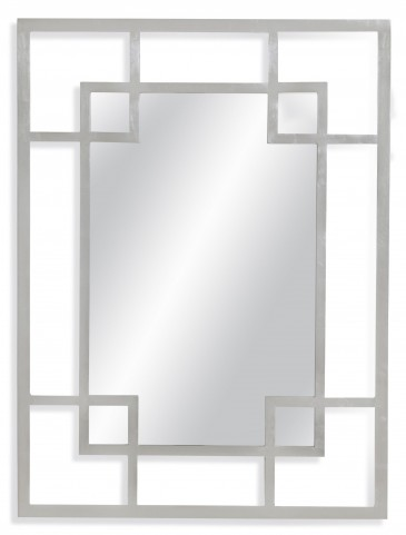 Amos Antiqued Silver Leaf Wall Mirror
