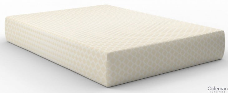 """Chime 12"""" Memory Foam White Queen Ultra Plush Mattress with Foundation"""