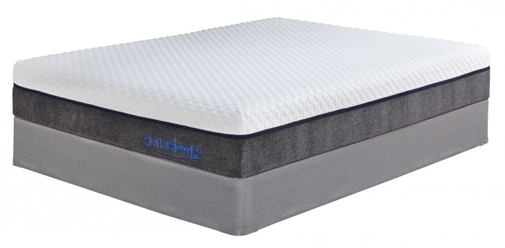 """11"""" Mygel Hybrid White Cal. King Mattress With Foundation"""