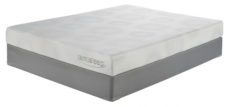 7 Inch Gel Memory Foam White Cal. King Mattress With Foundation