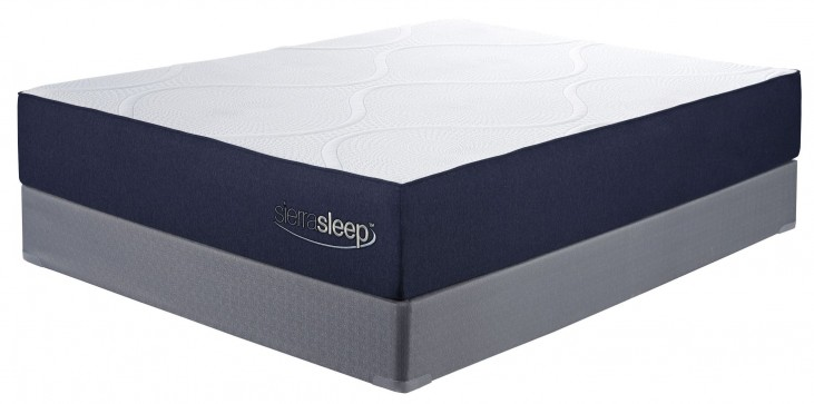 11 Inch Gel Memory Foam White Cal. King Mattress With Foundation