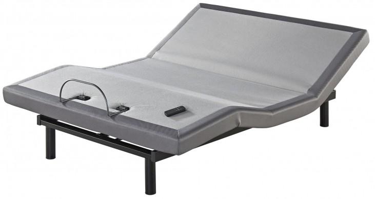 Gray Zero Gravity Queen Adjustable Bed