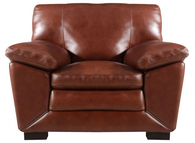 Maeser Pecan Leather Chair
