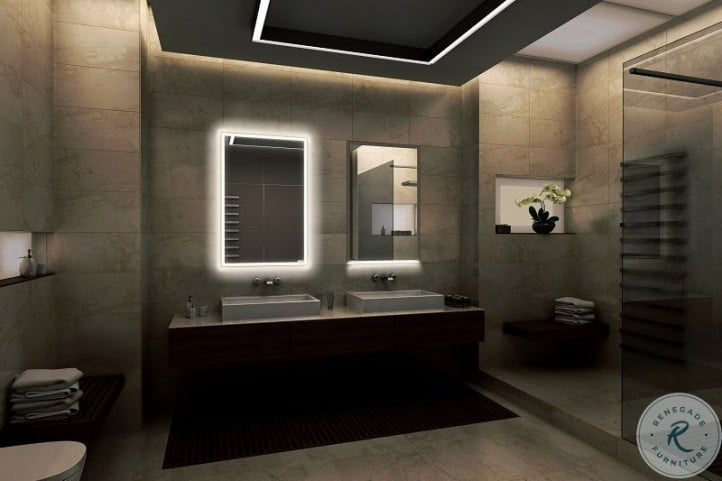 "Quadro 19.5"" Right 3000K LED Bathroom Cabinet"