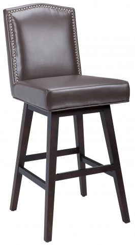 Maison Swivel Barstool Leather in Brown