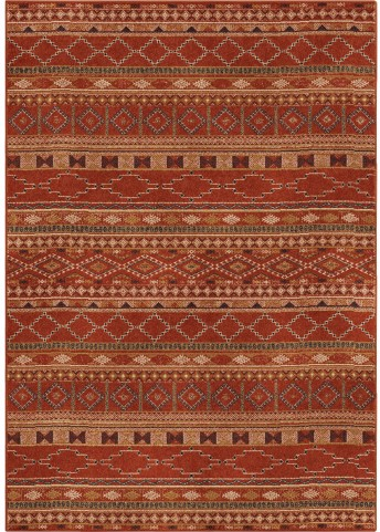 Orian Rugs Bright Color Medallion Zemmour Red Area Large Rug