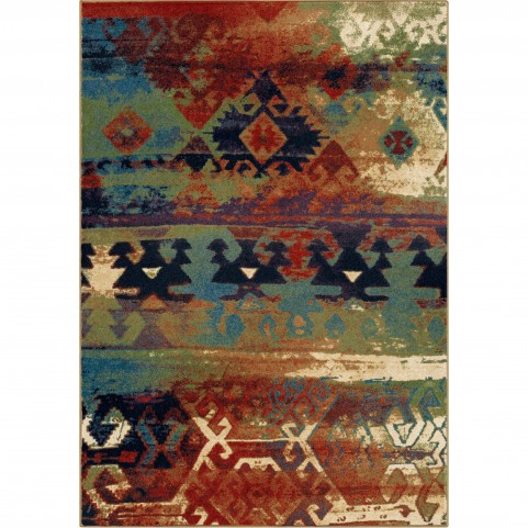 Elk River Multi Red Medium Rug