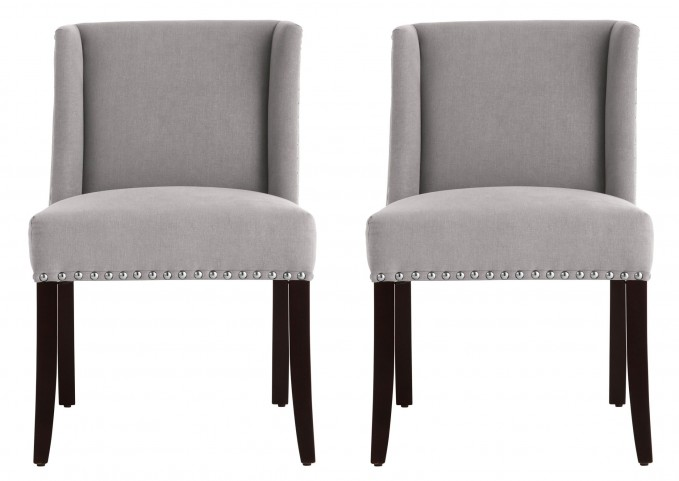 Marlin Dining Chair In Vintage Linen Grey Set of 2